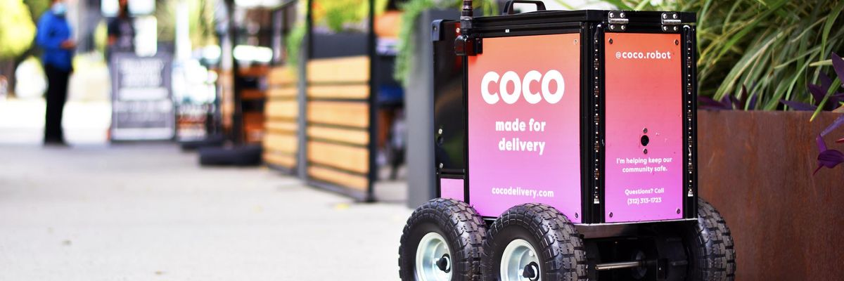 LA's Coco Robotics Hopes To Stand Out With Its Pink Delivery Robots