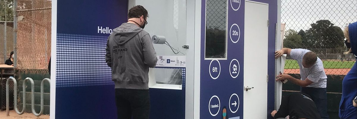 Los Angeles Opens COVID Testing Kiosk at Union Station