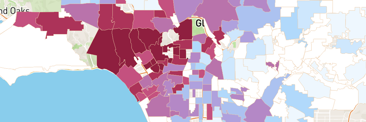 USC Maps LA's Known COVID-19 Cases By Neighborhood