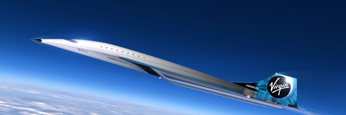 Virgin Galactic's Offers First Look at its Supersonic Airplane Concept