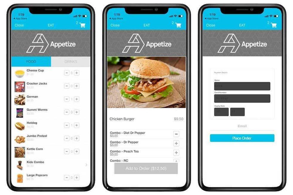 Appetize app
