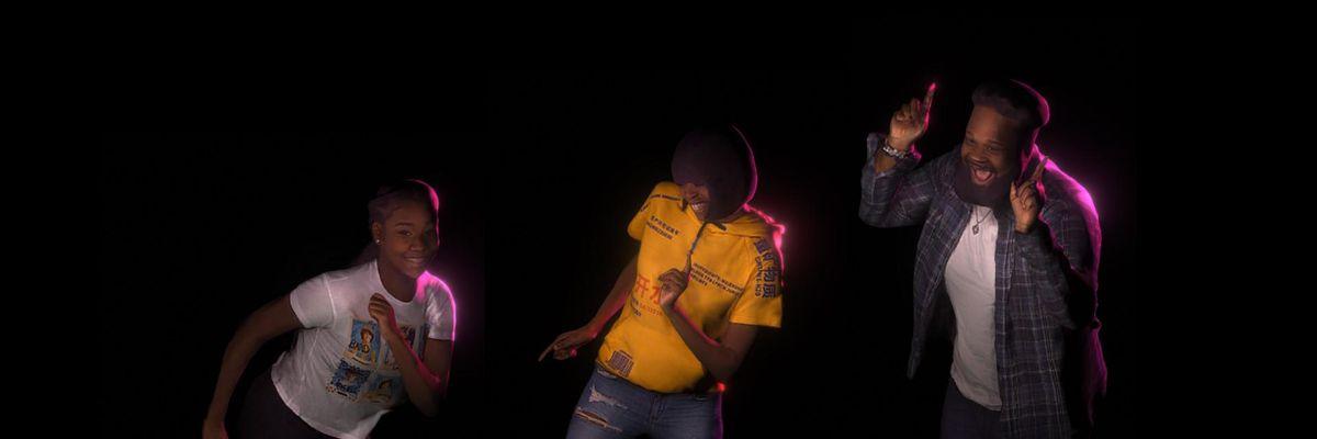 Jadu Juneteenth dance holograms